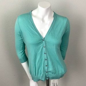 Old Navy Teal Button Up Cardigan Sweater